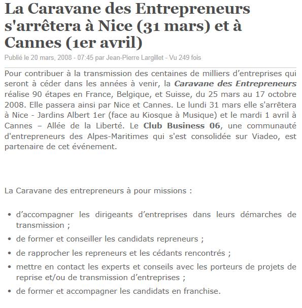 Caravane des Entrepreneurs
