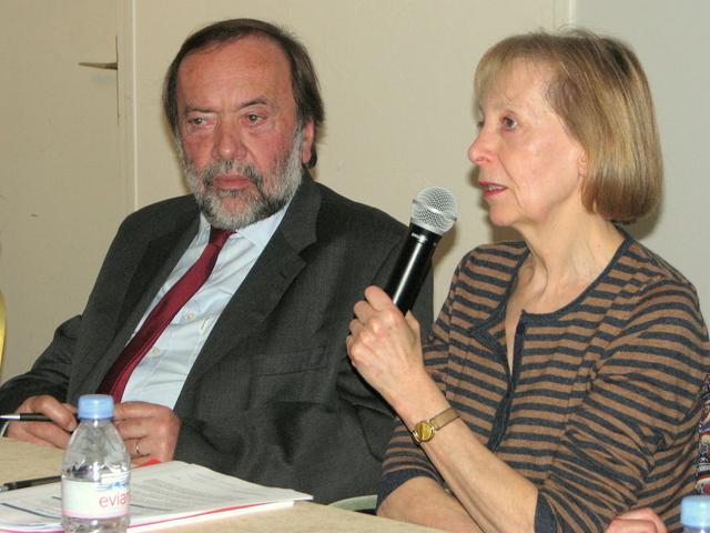 Gaston Franco, député européen, et Martine Liogier-Coudoux, chef de projet E.E.N. de la CCI Provence Alpes Côte-d'Azur