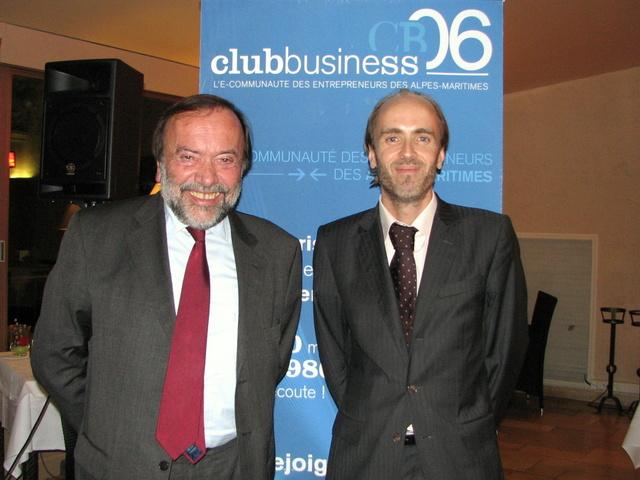 Gaston Franco, député européen, et Emmanuel Gaulin, président du Club Business 06