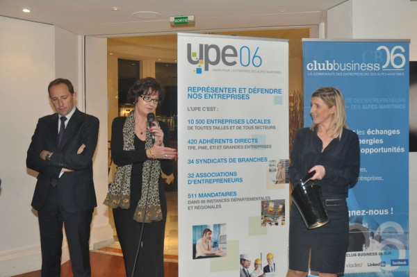 Véronique Marce, président de la Commission Evénement du CLub Business 06 et Stéphanie Aufrère, président du Club Business 06 - Grasse