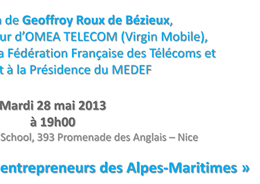 Conference Geoffroy Roux de Bézieux
