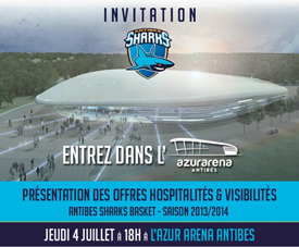 Invitation Azur Arena Antibes
