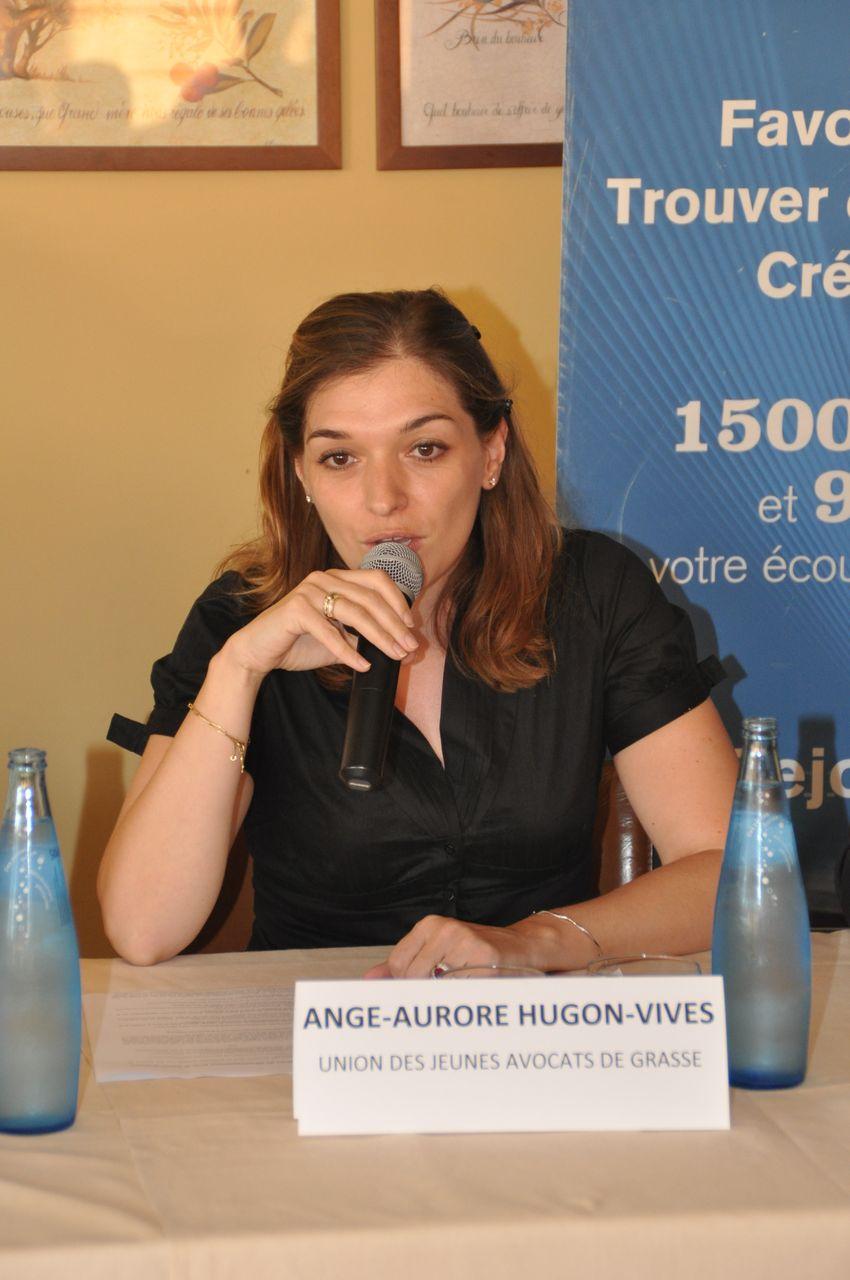 Ange-Aurore Hugon-Vives, Présidente de l'Union des Jeunes Avocats du Barreau de Grasse