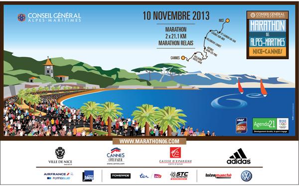 Marathon Alpes Maritimes Nice Cannes : le 10 novembre 2013