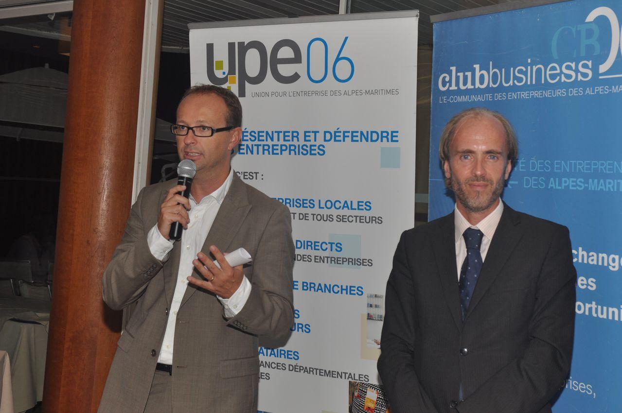 Laurent Elineau, directeur d'Oredui et Emmanuel Gaulin, Président du CLub Business 06