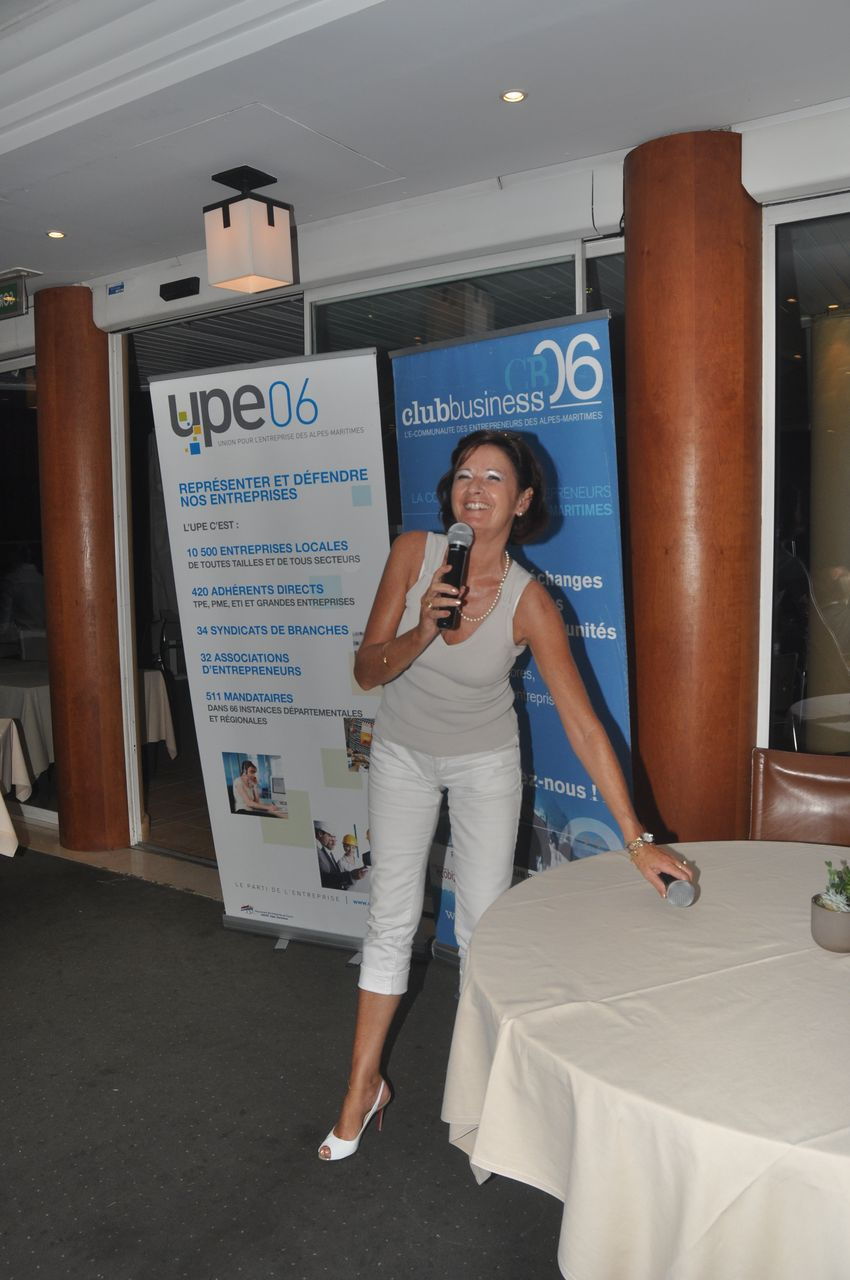 Véronique Marce, Présidente de la Commission Evénements et Relations InterClubs, Vice-présidente Club Business 06 - Vence, Cagnes, Villeneuve-sur-mer