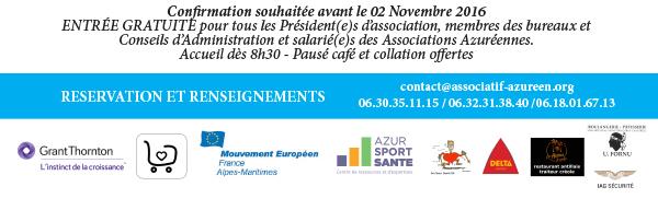 Confirmer votre participation, le samedi 05 novembre 2016, à l'Assemblée des Présidents