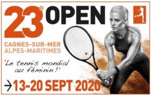 Photo du 23e Open de tennis féminin du 13 au 20sept 2020 à Cagnes sur mer