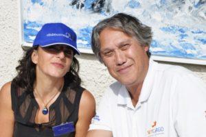Photo YAEL CASBI GOLBERG et Pierre PIACENTINI Président du Club Business 06 Cagnes métropole Nice Ouest
